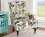 Jules Butterfly High Back Armchair silo side view