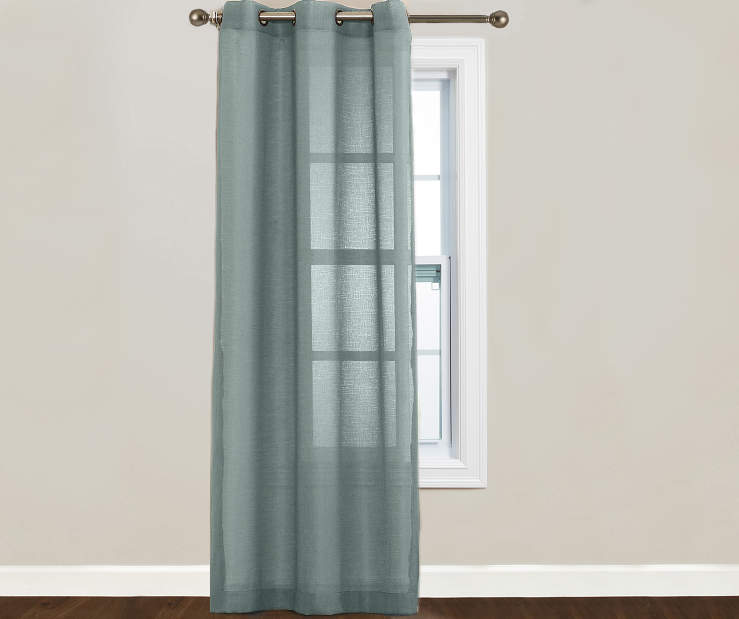 Just Home Aqua Lumi Panel 40 Inches by 84 Inches 2 Panels on Window Room View
