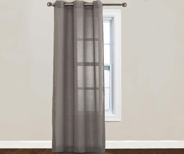 Just Home Gray Lumi Panel 40 Inches by 84 Inches 2 Panels on Window Room View