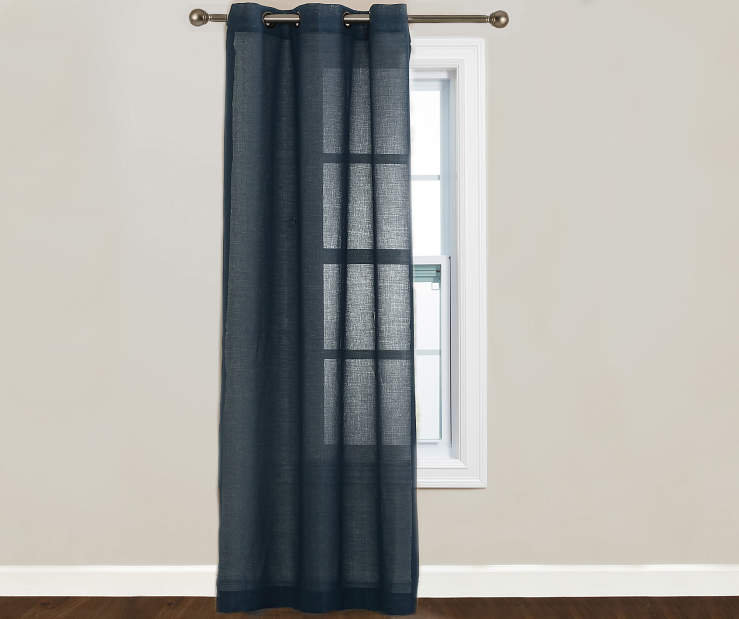 Just Home Indigo Lumi Panel 40 Inches by 84 Inches 2 Panels on Window Room View