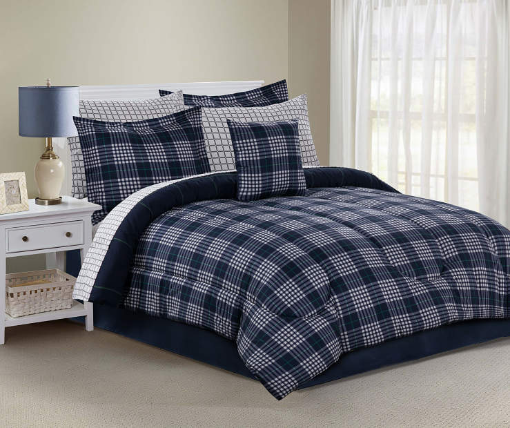 Just Home Kyle Plaid Reversible Comforter Sets   Big Lots