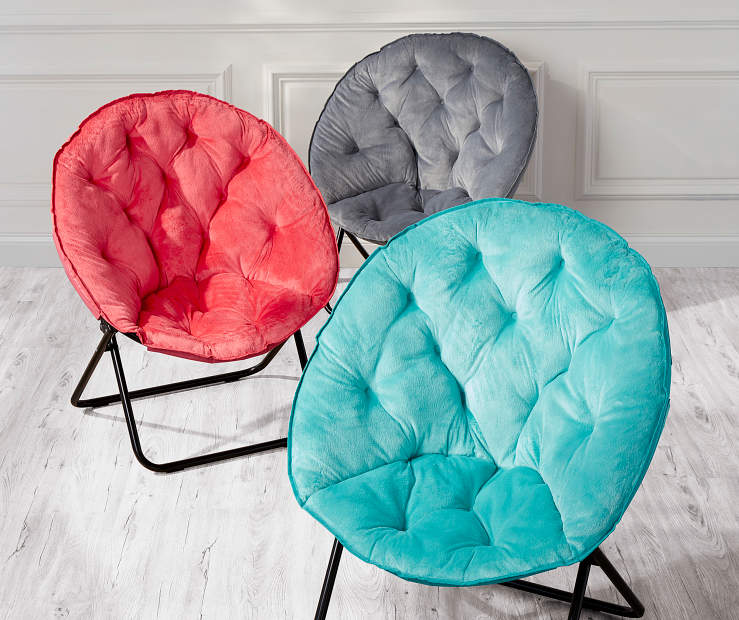 These Plush Saucer Chairs Deliver Comfy Lounging That S Easy And Convenient With A E Saving Design Fold Away Make Storing Breeze