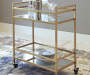 KAILMAN GOLD BAR CART