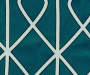 Karsyn Peacock Blue Geo Lines Blackout Single Curtain Panel 84 inch swatch