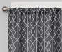 Karsyn Smoke Gray Geo Lines Blackout Single Curtain Panel 95 inch lifestyle