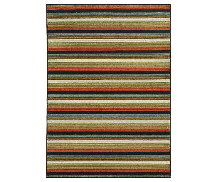 Keller Multi-Color Area Rug 3FT3IN x 5FT5IN Silo Image