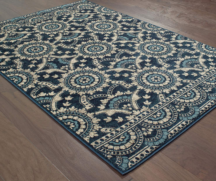 Keller Navy Area Rug 6FT7IN x 9FT6IN Silo Image
