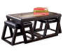 Kelton Coffee Table with Nesting Ottomans silo front with prop