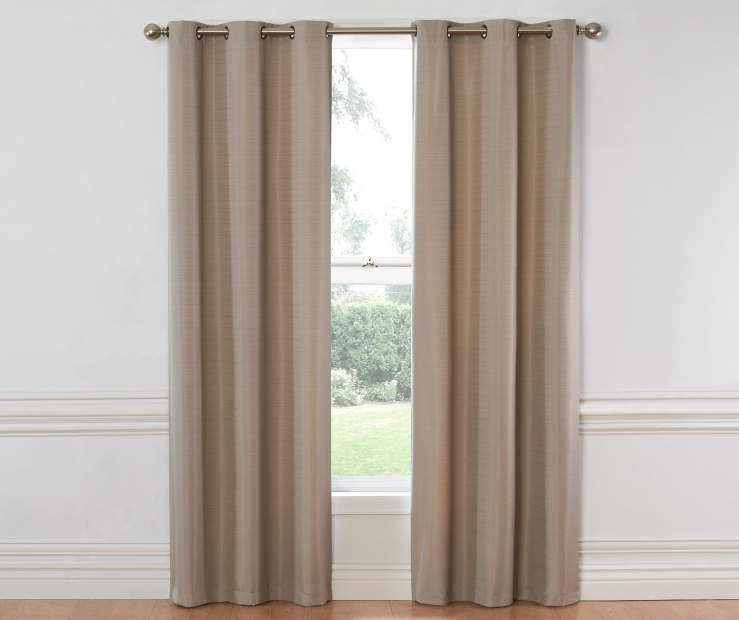 Khaki Hampton Curtain Panel 84 Inch on Window Room View