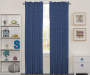 Kids Anchor Denim Blue Blackout Single Curtain Panel 63 inches Lifestyle