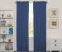 Kids Anchor Denim Blue Blackout Single Curtain Panel 84 inches Lifestyle