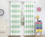 Kids Bridgewater Mint Stripe Blackout Single Curtain Panel 84 inches Lifestyle