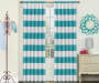 Kids Bridgewater Teal Stripe Blackout Single Curtain Panel 63 inches Lifestyle