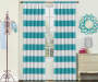 Kids Bridgewater Teal Stripe Blackout Single Curtain Panel 84 incesh Lifestyle