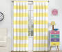 Kids Bridgewater Yellow Stripe Blackout Single Curtain Panel 63 inches Lifestyle