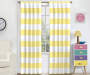 Kids Bridgewater Yellow Stripe Blackout Single Curtain Panel 84 inches Lifestyle