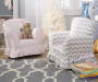 Kids Camille Pink and Gray Zig Zag Armchair lifestyle
