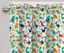 Kids Dino Jams Blackout Single Curtain Panel 63 inches Cropped Lifestyle