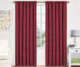 "Kids Magnolia Chili Red Blackout Single Curtain Panel, (63"")"
