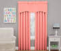Kids Magnolia Coral Pink Wave Blackout Window Valance 42 inches by 18 inches Lifestyle