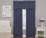 Kids Magnolia Denim Blue Wave Blackout Window Valance 42 inches by 18 inches Lifestyle