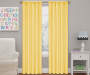 Kids Magnolia Lemon Blackout Single Curtain Panel 84 inches Lifestyle