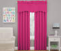 Kids Magnolia Raspberry Pink Wave Blackout Window Valance 42 inches by 18 inches Lifestyle