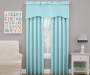 Kids Magnolia Teal Wave Blackout Window Valance 42 inches by 18 inches Lifestyle