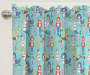 Kids Mermaid Party Blackout Single Curtain Panel 63 inches Cropped Lifestyle