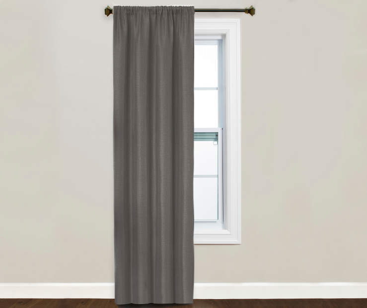Kiera Charcoal Blackout Curtain Panel Window Image