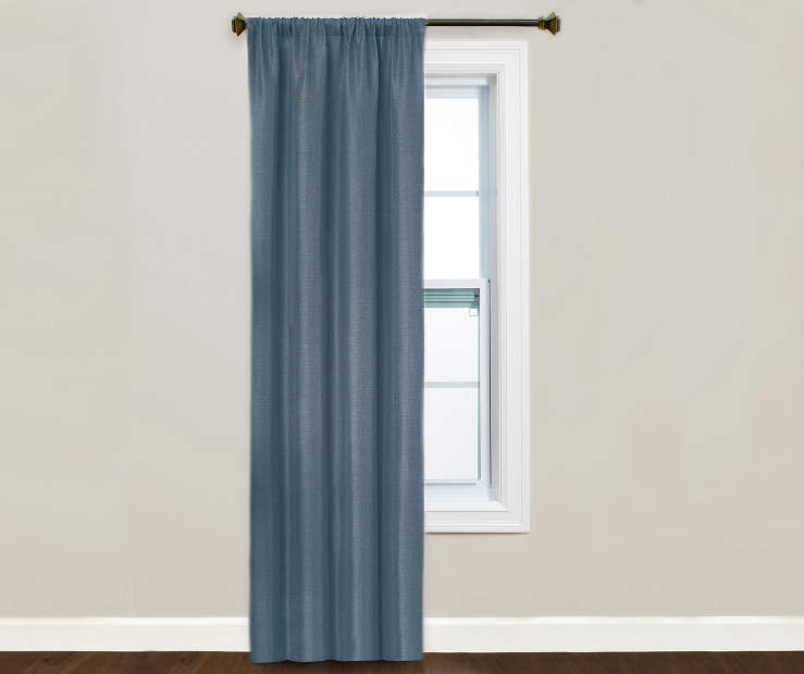 Kiera Indigo Blackout Curtain Panel Window Image