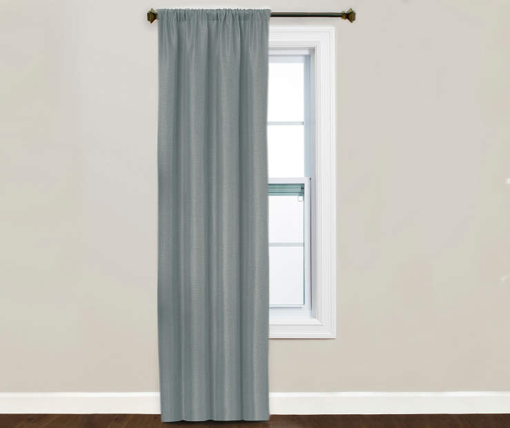 Kiera Spa Blue Blackout Curtain Panel Window Image