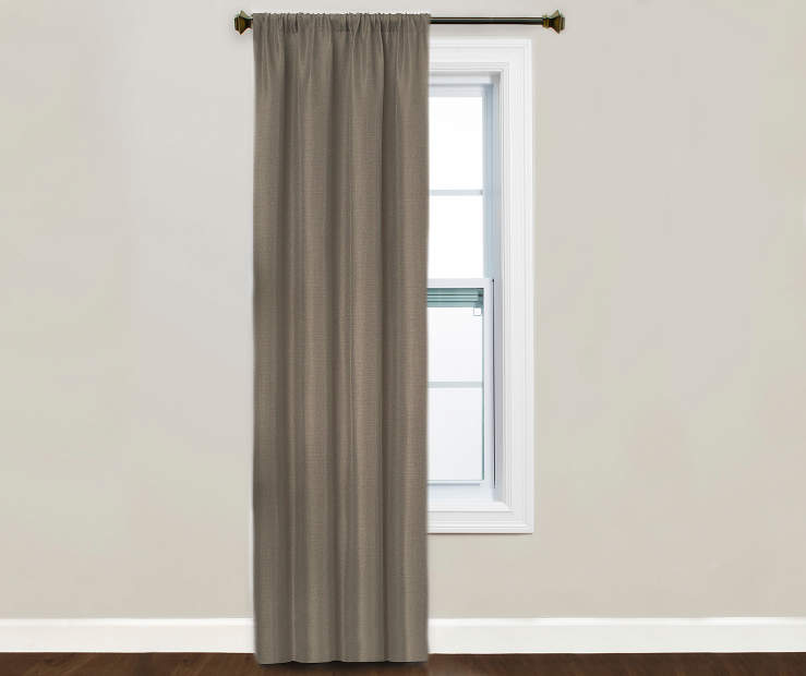 Kiera Taupe Blackout Curtain Panel Window Image