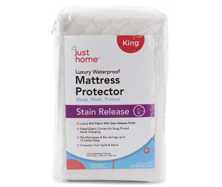 King Stain Release Luxury Waterproof Mattress Protector Silo in Packaging
