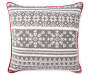 Knit Snowflake Throw Pillow 17 inch x 17 inch silo front