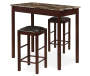Knox Faux Stone 3 Piece Pub Table Set silo front