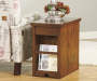 LAFLORN BROWN CHAIRSIDE END TABLE