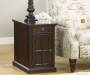 LAFLORN DARK BROWN CHAIRSIDE END TABLE