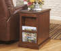 LAFLORN RICH BROWN CHAIRSIDE END TABLE