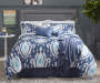 LC 12PC BIAB IKAT TEAR DROP KING NAVY AQ