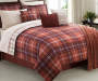 LC 12PC BIAB KING LANCELOT PLAID AUBURN
