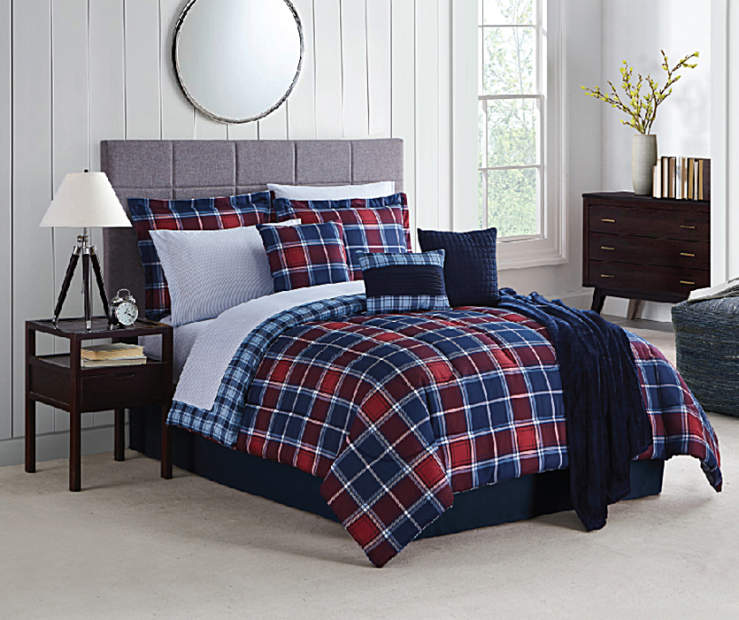 LC 12PC BIAB QUEEN PROVIDENCE PLAID RED/BLUE