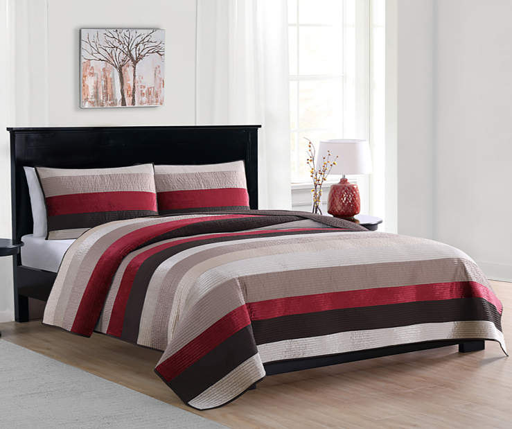 LC 3PC VELVET QUILT KING BELLA MOROCCAN