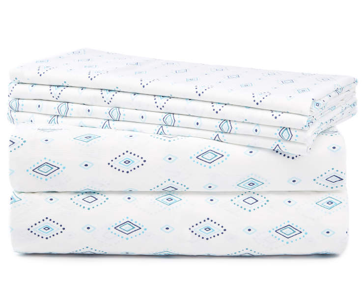 LC 6PC SHEET SET KING TRIBAL DIAM NAVY