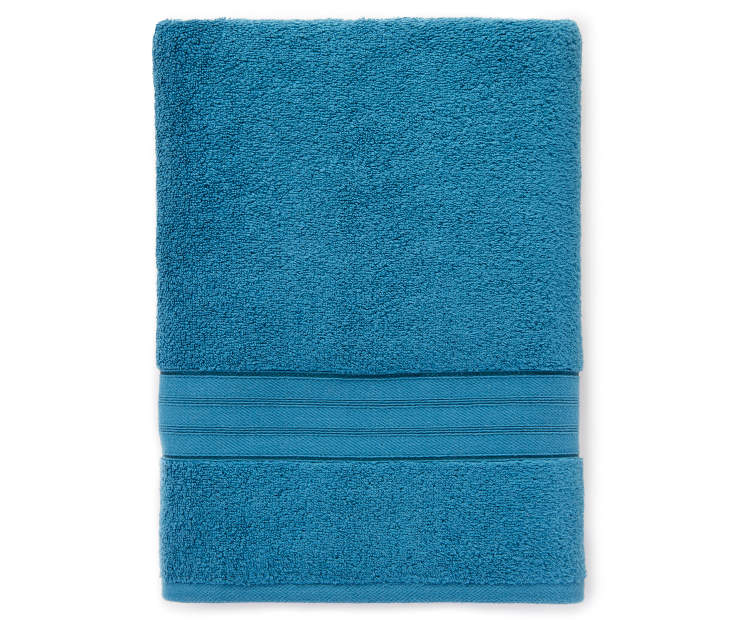 LC BATH TOWEL BLUE CORAL