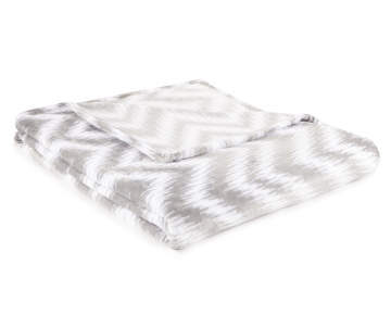9220f5fe7 Living Colors Gray & White Chevron Twin/Full Velvet Plush Blanket Living  Colors Gray & White Chevron Twin/Full Velvet Plu.