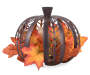 LED BRONZE CUTOUT PUMPKIN