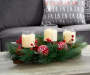 LED Fair Isle Ornament and Floral Arrangement lifestyle