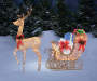 LED Glitter Deer with Sled 63 Inches Outdoor Environment Lifestyle Image