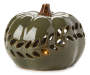 LED Green Ceramic Pumpkin